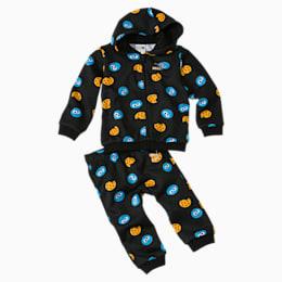 Tuta con stampa Sesame Street neonato, Puma Black, small