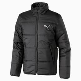 Essentials Padded Full Zip Kid's Jacket, Puma Black, small