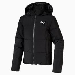 480 Down Hooded Kid's Jacket, Puma Black, small