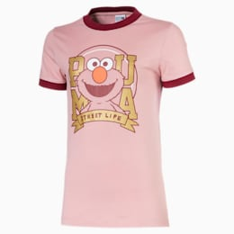 Sesame Street Short Sleeve Girls' Tee, Bridal Rose, small