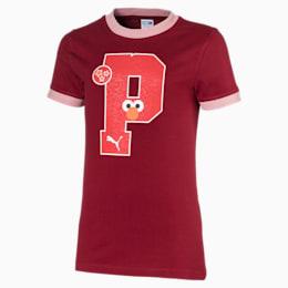 Camiseta PUMA x SESAME STREET para niña, Rhubarb, pequeño