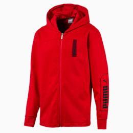 NU-TILITY Men's Full Zip Hoodie, High Risk Red, small