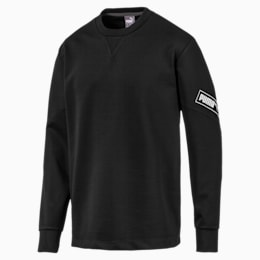 NU-TILITY Men's Crewneck Sweatshirt, Puma Black, small