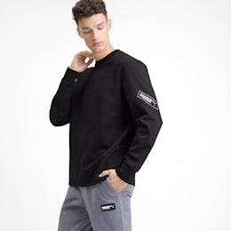 NU-TILITY Men's Crewneck Sweatshirt, Puma Black, small