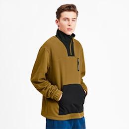 NU-TILITY Men's Half Zip Jacket, Moss Green, small