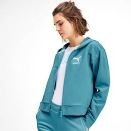 NU-TILITY Women's Full Zip Hoodie, Milky Blue, small