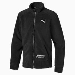 Alpha Boys' Sherpa Jacket JR, Puma Black, small