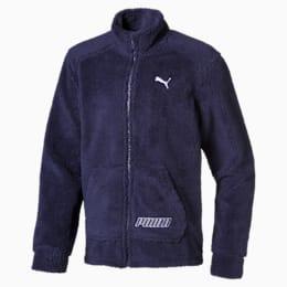 Alpha Boys' Sherpa Jacket JR, Peacoat, small