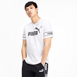 Amplified Men's Big Logo Tee, Puma White, small