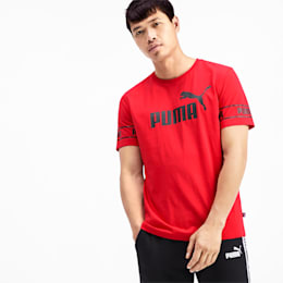 Amplified Men's Big Logo Tee, High Risk Red, small
