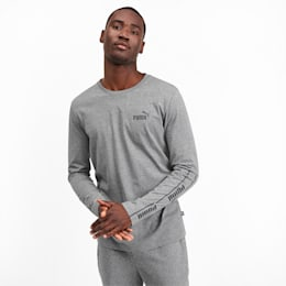 Amplified Men's Long Sleeve Tee, Medium Gray Heather, small