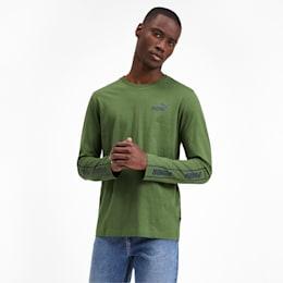 Amplified Long Sleeve Men's Tee, Garden Green, small-IND