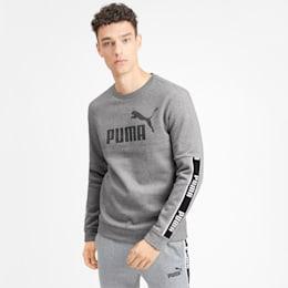 Amplified Long Sleeve Men's Sweater, Medium Gray Heather, small