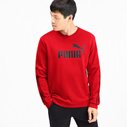 Amplified Long Sleeve Men's Sweater, High Risk Red, small-SEA