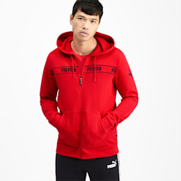Amplified Men's Hooded Jacket, High Risk Red, small