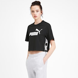 Amplified Cropped Women's Tee, Puma Black, small-IND