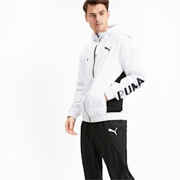 Modern Sport Hooded Men's Sweat Suit, Puma White, small-IND