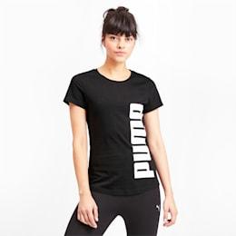 Rebel Short Sleeve Women's Tee, Puma Black, small-IND