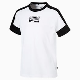 Rebel Jungen T-Shirt, Puma White, small