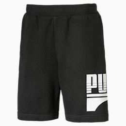 Rebel Boys' Sweat Shorts JR, Puma Black, small