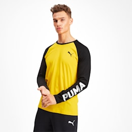 Modern Sports Men's Long Sleeve Tee, Sulphur, small