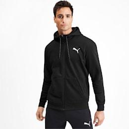Modern Sports Full Zip Men's Hoodie, Puma Black, small-IND