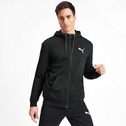 Sudadera Modern Sports con capucha y cierre completo para hombre, Puma Black, pequeño