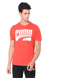 Rebel Bold Graphic Short Sleeve Men's Tee, High Risk Red, small-IND