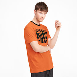 Rebel Bold Graphic Short Sleeve Men's Tee, Jaffa Orange, small-SEA