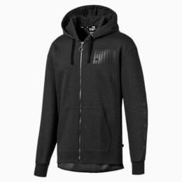 Rebel Bold Men's Fleece Full Zip Hoodie, Dark Gray Heather, small
