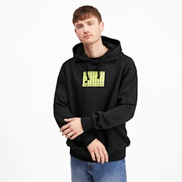 Rebel Block Full Length Men's Hoodie, Puma Black, small-IND