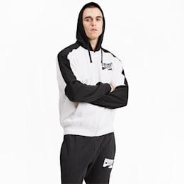 Blouson en sweat Rebel Block avec capuche pour homme, Puma White, small