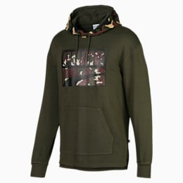 Rebel Camo Men's Hoodie, Forest Night, small
