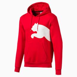 Big Logo Men's Fleece Hoodie, High Risk Red, small
