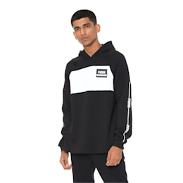 Rebel Stripe Hoodie, Puma Black, small-IND