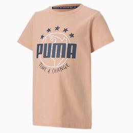 キッズ T4C Tシャツ 半袖, Pink Sand, small-JPN