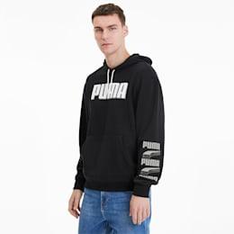 Camisola com capuz REBEL Bold para homem, Puma Black-Puma White, small