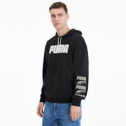 REBEL Bold Men's Hoodie, Puma Black-Puma White, small