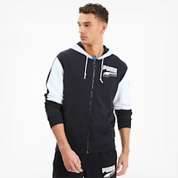 REBEL Block Herren Sweatjacke mit Kapuze, Puma Black, small