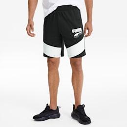 REBEL Block Men's Shorts, Puma Black, small-SEA