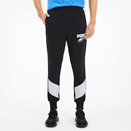 REBEL Block Men's Sweatpants, Puma Black, small-SEA