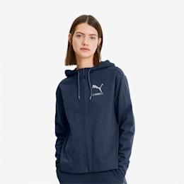 NU-TILITY Women's Full Zip Hoodie, Dark Denim, small