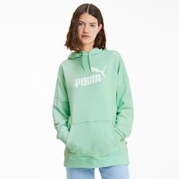 Essentials+ Women's Elongated Hoodie, Mist Green, small
