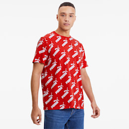 Amplified Allover-Print Herren T-Shirt, High Risk Red-a, small