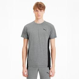 CamisetaEvostripe para hombre, Medium Gray Heather, pequeño