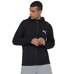 EVOSTRIPE Hooded Jacket, Puma Black, small-IND