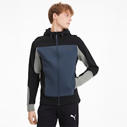 Evostripe Men's Hooded Jacket, Dark Denim, small