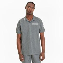 Modern Sports Men's Polo, Medium Gray Heather-White, small