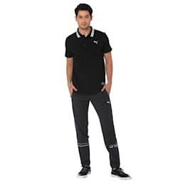 one8 Men's Stylised Polo, Puma Black Heather, small-IND