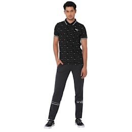 one8 AOP Men's Printed Polo, Puma Black, small-IND
